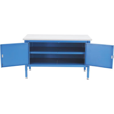 Global Industrial™ 60 x 30 Security Cabinet Bench - Plastic Square Edge