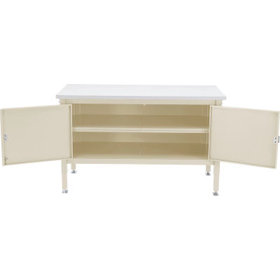 Global Industrial™ 60 x 30 Security Cabinet Bench - Plastic Safety Edge