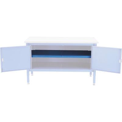 """Global Industrial™ 72"""" Cabinet Center Shelf-Blue"""
