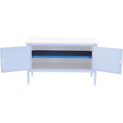 "Global Industrial™ 72"" Cabinet Center Shelf-Blue"