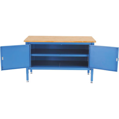 Global Industrial™ 72 x 30 Security Cabinet Bench - Maple Square Edge