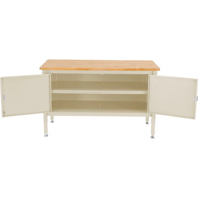 Global Industrial™ 60 x 30 Security Cabinet Bench - Maple Square Edge