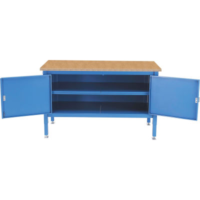 Global Industrial™ 72 x 30 Security Cabinet Bench - Shop Top Safety Edge