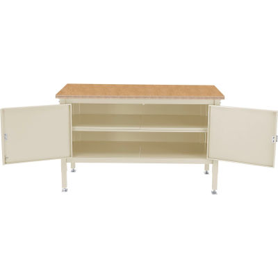 Global Industrial™ 72 x 30 Security Cabinet Bench -Shop Top Safety Edge