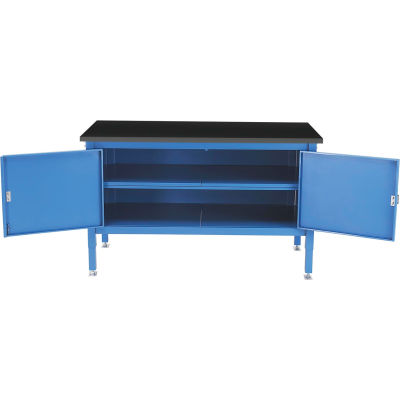 Global Industrial™ 60 x 30 Security Cabinet Bench - Phenolic Resin Safety Edge