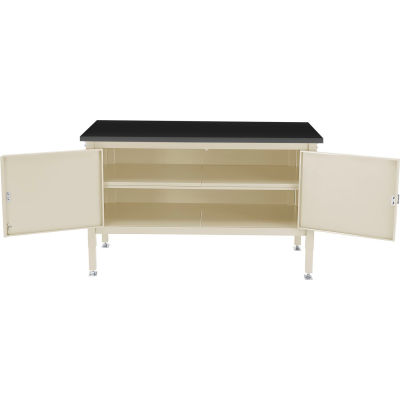 Global Industrial™ 72 x 30 Security Cabinet Bench - Phenolic Resin Safety Edge