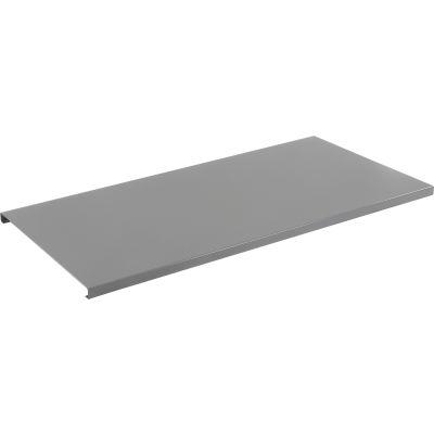 "Global Industrial™ 60""W x 30""D x 1-3/4""H Steel Square Edge Workbench Top - 12 Gauge Steel Gray"