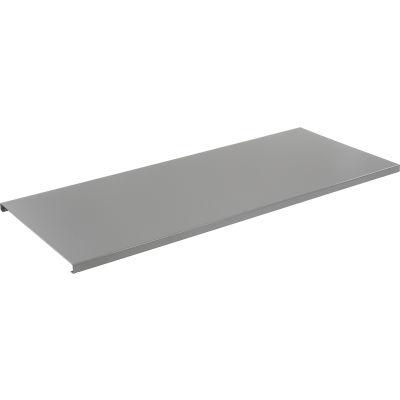"Global Industrial™ 72""W x 30""D x 1-3/4""H Steel Square Edge Workbench Top - 12 Gauge Steel Gray"