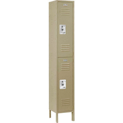 Infinity® Locker Double Tier 12x18x36 2 Door Assembled Tan