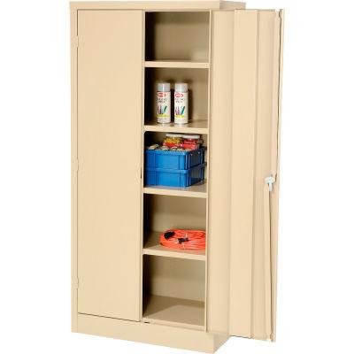 Compact Storage Cabinet 30x15x66 Tan