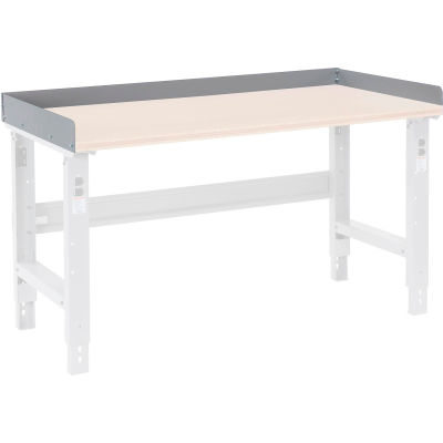 """Global Industrial™ Back and End Stops For Workbench Top - 72""""W x 30""""D x 3""""H - Gray"""