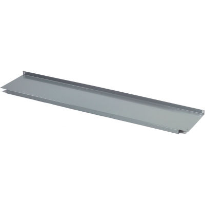 "Global Industrial™ Lower Shelf Steel With 2"" Back Stop for Workbench - 96""W x 14""D - Gray"