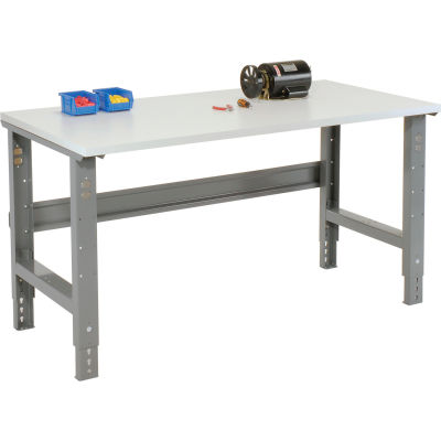 Global Industrial™ 60x30 Adjustable Height Workbench C-Channel Leg - ESD Square Edge Gray