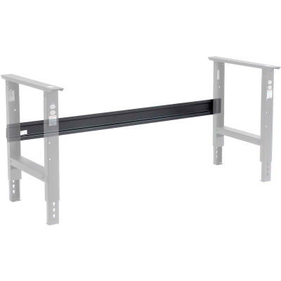 """Global Industrial™ Workbench Stringer for 48""""W C-Channel Leg Adjustable & Fixed Height - Black"""