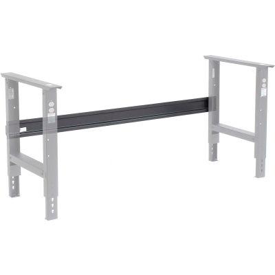 "Global Industrial™ Workbench Stringer 72""W x 6""H for C-Channel Open Leg - Black"