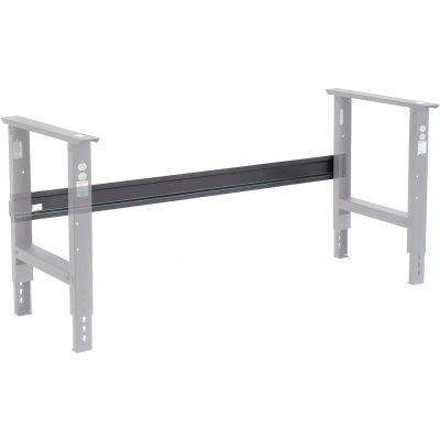 """Global Industrial™ Workbench Stringers for 96""""W C-Channel Leg Adjustable & Fixed Height - Black"""
