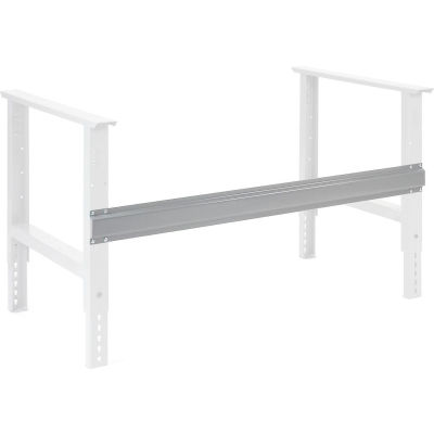 """Global Industrial™ Workbench Stringer for 48""""W C-Channel Leg Adjustable & Fixed Height - Gray"""