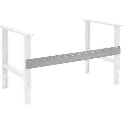 "Global Industrial™ Workbench Steel Stringer For C Channel Adj Leg & Fixed Height, 48""W, Gray"