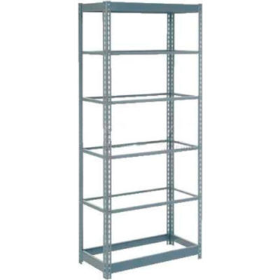 """Global Industrial™ Heavy Duty Shelving 36""""W x 18""""D x 84""""H With 6 Shelves - No Deck - Gray"""