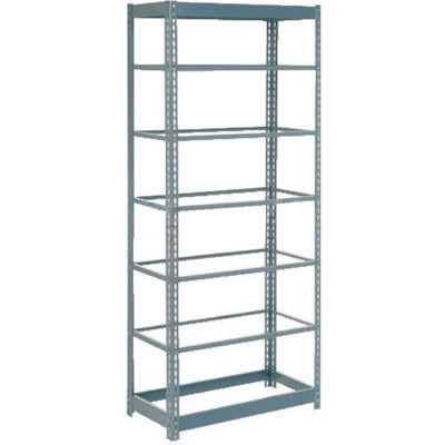 "Global Industrial™ Heavy Duty Shelving 36""W x 12""D x 96""H With 7 Shelves - No Deck - Gray"