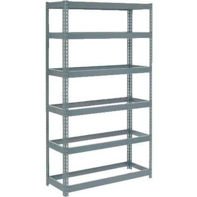 "Global Industrial™ Extra Heavy Duty Shelving 48""W x 18""D x 96""H With 6 Shelves, No Deck, Gray"