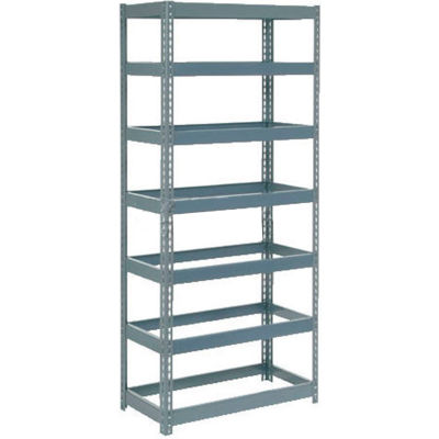 "Global Industrial™ Extra Heavy Duty Shelving 36""W x 12""D x 84""H With 7 Shelves, No Deck, Gray"