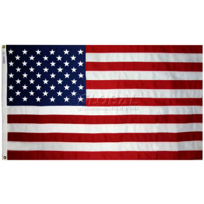 5' x 8' Tough-Tex® US Flag with Sewn Stripes & Embroidered Stars
