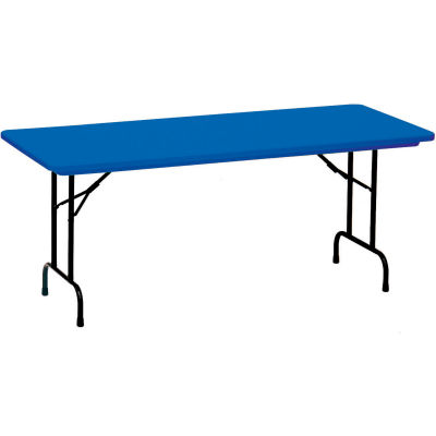 "Correll Folding Table - Blow Molded - 24"" x 48"", Blue"