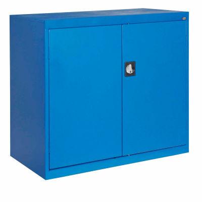 Sandusky Elite Series Counter Height Storage Cabinet EA2R462442 - 46x24x42, Blue