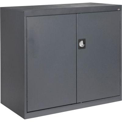 Sandusky Elite Series Counter Height Storage Cabinet EA2R462442 - 46x24x42, Charcoal