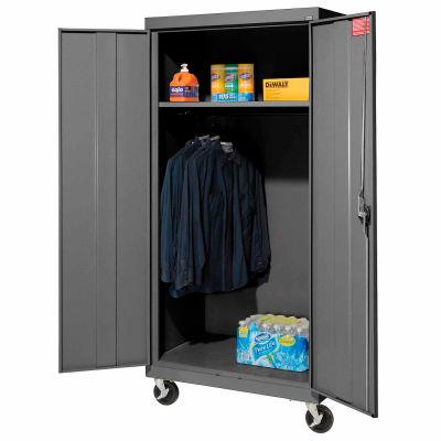 Sandusky Mobile Wardrobe Cabinet TAWR462472 - 46x24x78, Charcoal