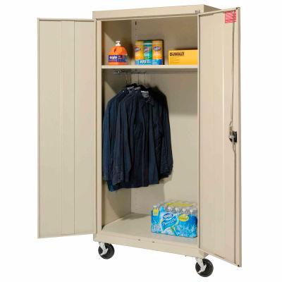 Sandusky Mobile Wardrobe Cabinet TAWR462472 - 46x24x78, Putty