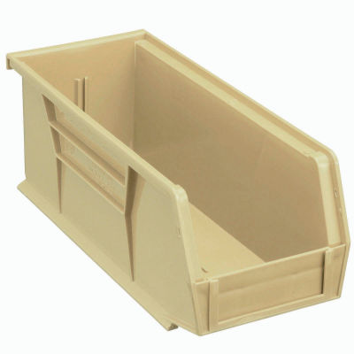Global Industrial™ Plastic Stack and Hang Parts Storage Bin 4-1/8 x 10-7/8 x 4, Beige - Pkg Qty 12