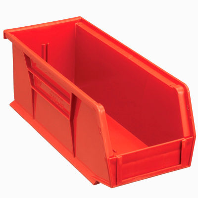 Global Industrial™ Plastic Stack and Hang Parts Storage Bin 4-1/8 x 10-7/8 x 4, Red - Pkg Qty 12