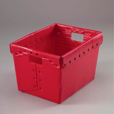 Global Industrial™ Corrugated Plastic Totes - Postal Nesting- No Lid 18-1/2x13-1/4x12 Red