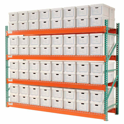 """Global Industrial™ Record Storage Rack Starter Letter Legal 120""""W x 36""""D x 96""""H"""