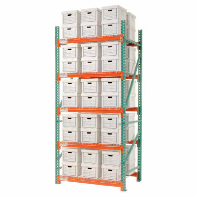 """Global Industrial™ Record Storage Rack Starter Letter Legal 48""""W x 42""""D x 120""""H"""