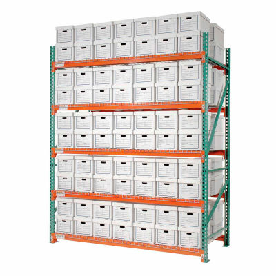 """Global Industrial™ Record Storage Rack Starter Letter Legal 120""""W x 42""""D x 120""""H"""