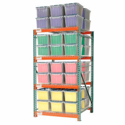 "Global Industrial™ Record Storage Rack Starter Polyethylene Box 48""W x 48""D x 96""H"