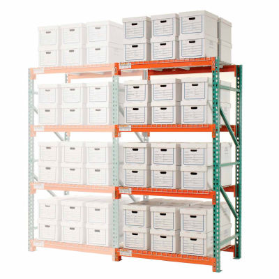 """Global Industrial™ Record Storage Rack Add-On Letter Legal 48""""W x 36""""D x 96""""H"""