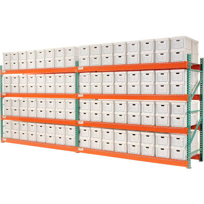 """Global Industrial™ Record Storage Rack Add-On Letter Legal 120""""W x 36""""D x 96""""H"""