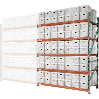"""Global Industrial™ Record Storage Rack Add-On Letter Legal 96""""W x 42""""D x 120""""H"""