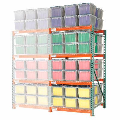 "Global Industrial™ Record Storage Rack Add-On Letter Polyethylene Box 48""W x 48""D x 96""H"