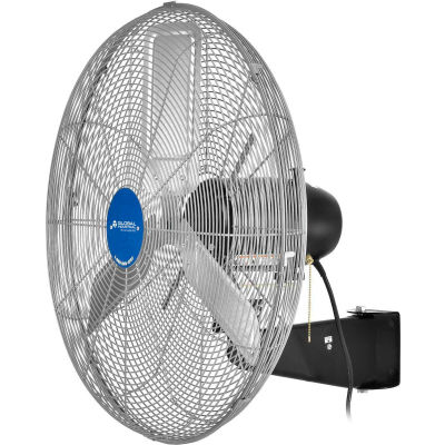 """Global Industrial™ 30"""" Deluxe Industrial Wall Mounted Fan, Oscillating, 10000 CFM,1/2 HP"""
