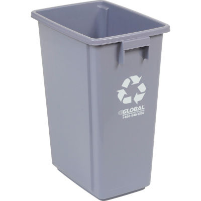 Global Industrial™ Recycling Can, 15 Gallon, Gray