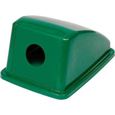 """Global Industrial™ Recycling Bottle & Can Lid - Green 13""""W x 18""""D x 9""""H"""