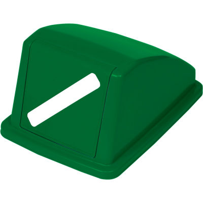 """Global Industrial™ Recycling Paper Lid - Green 13""""W x 18""""D x 9""""H"""