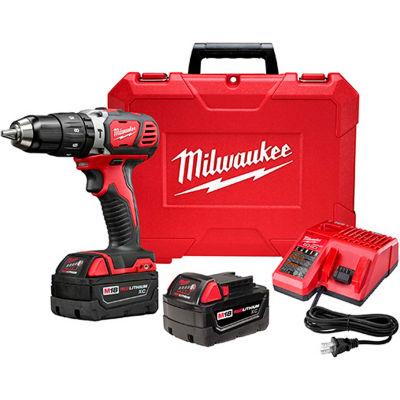 "Milwaukee 2607-22 M18 Compact 1/2"" Hammer Drill/Driver Kit 3.0Ah"