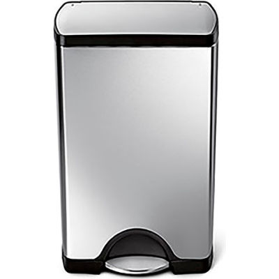 simplehuman® CW1814 Rectangular Step Can - 10 Gallon Brushed SS
