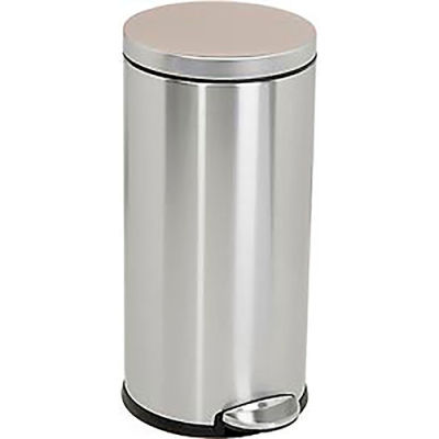 simplehuman® Round Step Can - 9-1/4 Gallon Brushed SS